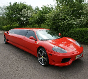 Ferrari Limo in South Wales and North Wales